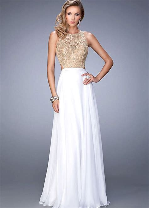 white and gold open back prom dress 2016 2017 b2b fashion charming white embellished beaded gold lace open back dress dress ideas