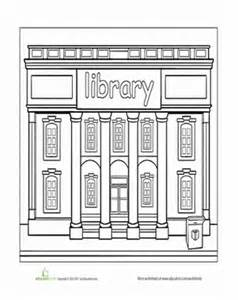 library coloring pages library worksheet education