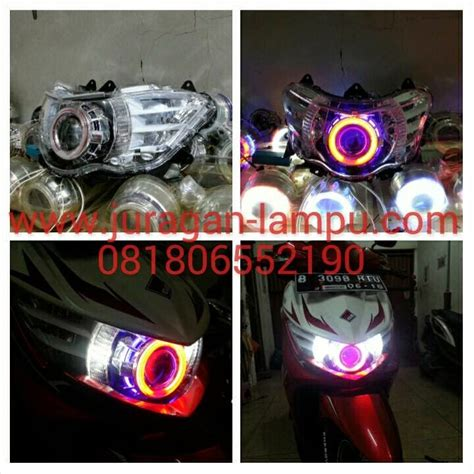 Lu Led Xeon Gt juragan lu projie hid aes led cat sirip untuk yamaha soul gt dan xeon gt125 eagel eye