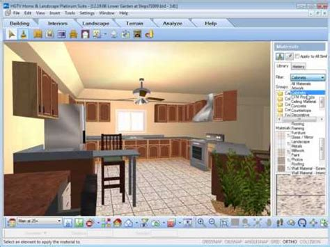 Hgtv Home Design And Landscaping Software Hgtv Home Design Software Working With The Materials
