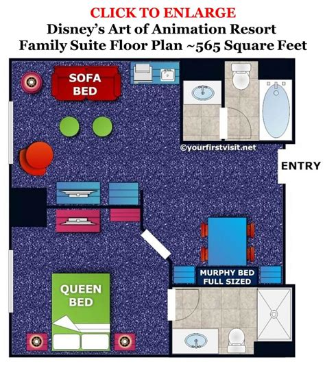 Disney Art Of Animation Floor Plan accommodations in the family suites at disney s art of