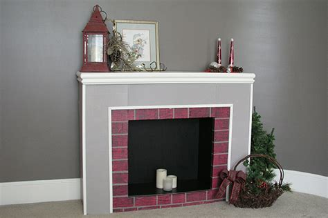 how to make a cardboard fireplace with pictures