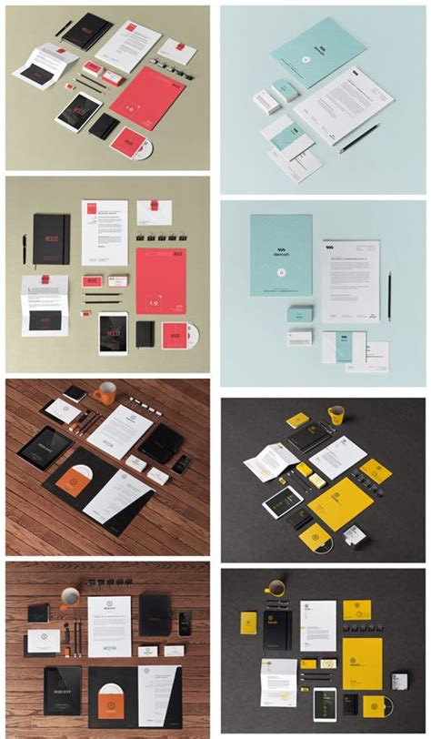 graphic design branding mock up stationery branding mock up templates vol 1 4 psd 187 free