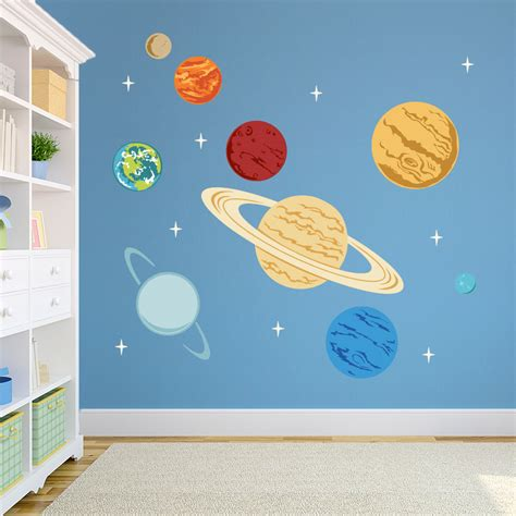planet wall stickers planets printed wall decal