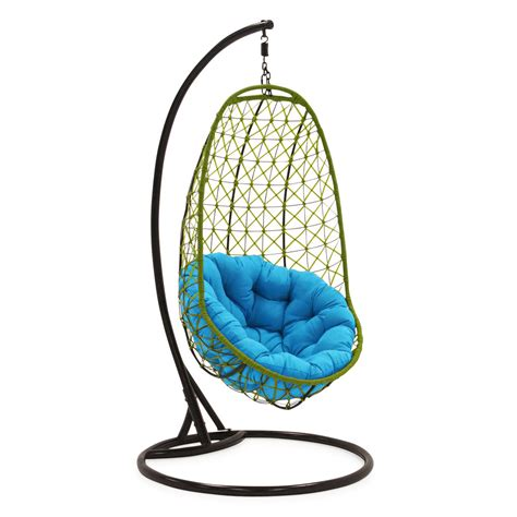 garden swing egg chair comfortable egg shaped rattan outdoor euro swing chair