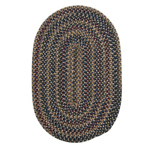 Braided Area Rugs Oval Home Decorators Collection Winchester Blue 8 Ft X 10 Ft Oval Braided Area Rug Wn40r096x120