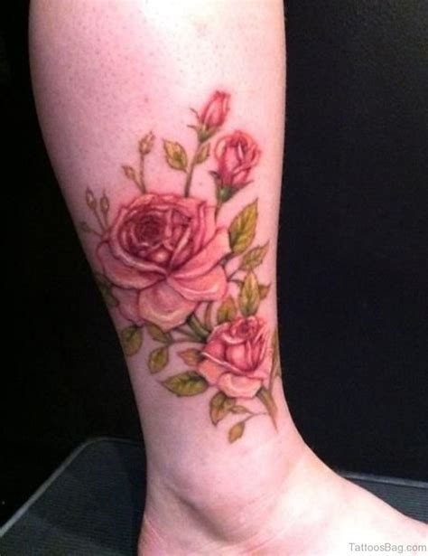 foot tattoos roses 41good looking tattoos for ankle