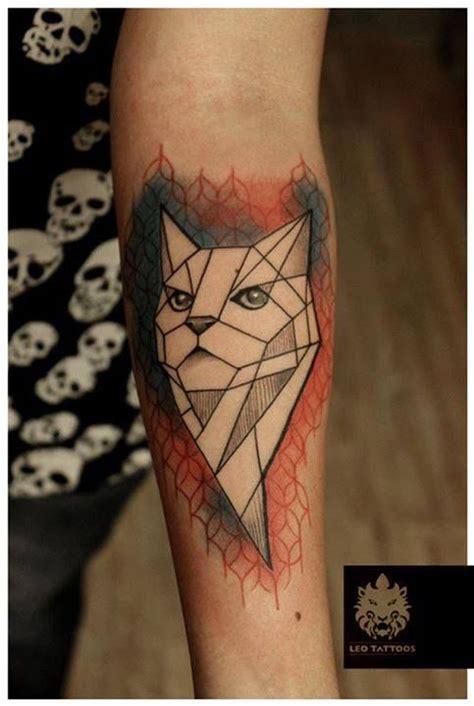 pattern cat tattoo geometric tattoo cat geometric pattern colortattoo