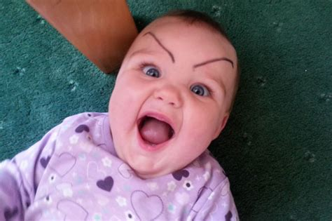 All About The Brows Baby 2 by Eyebrow Raising Trend Pics Of Babies With On
