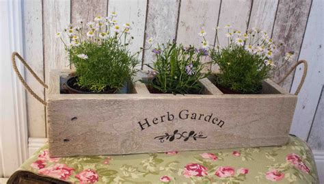 Garden Herb Planter by Herb Planter Wooden Planter Window Box Herb Garden Herbs
