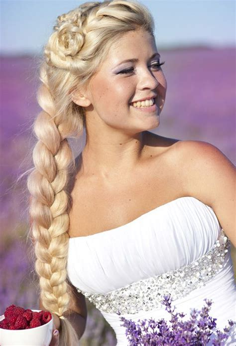 Wedding Hair Side Bun Plait by The 6 Month Wedding Plan Wedding Hairstyles The