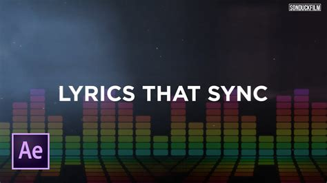 tutorial after effects lyric video sync text to music create lyric videos after effects