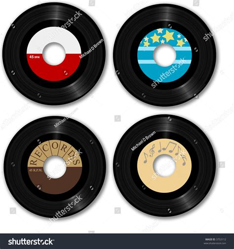 design your own record label 45 rpm records make your own stock illustration 3753112