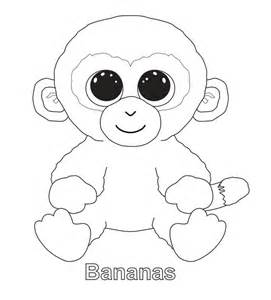 bananas the monkey ty beanie boo megans 8th birthday