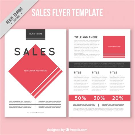 sales brochure templates abstract sales flyer template vector free
