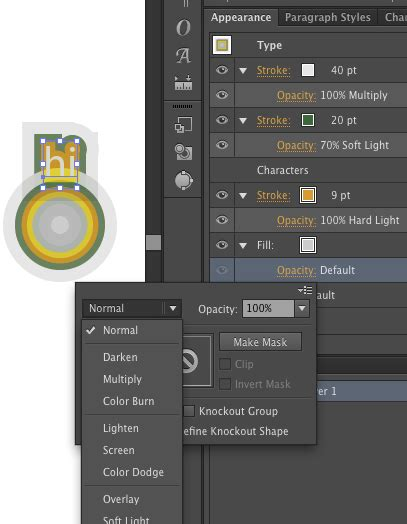 cs5 how can i change the blending modes in adobe