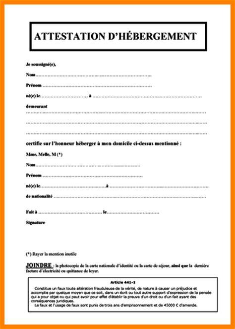 Lettre De Remerciement Hebergement 9 Certificat D H 233 Bergement Mod 232 Le Exemple Lettre
