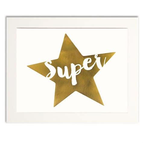 printable golden star super star gold print
