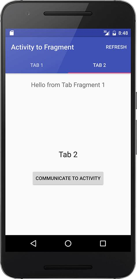 android fragment android activity to fragment communication truiton