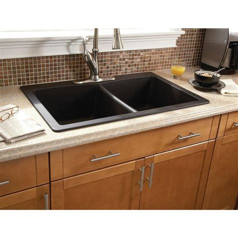kitchen dining black granite sink reviews composite