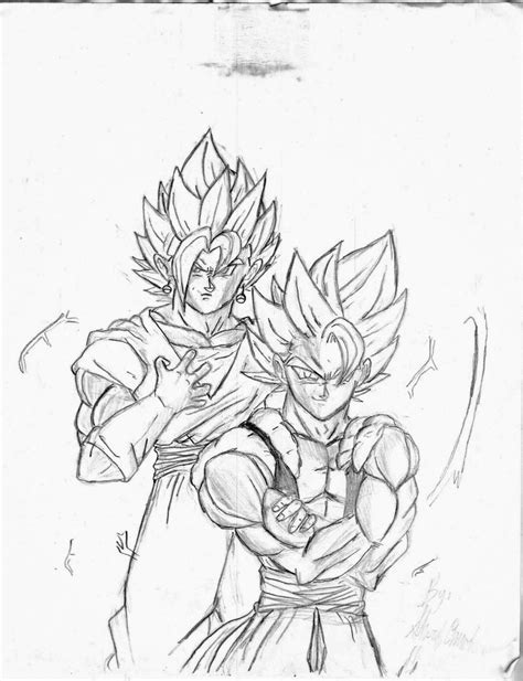 vegito full free coloring pages