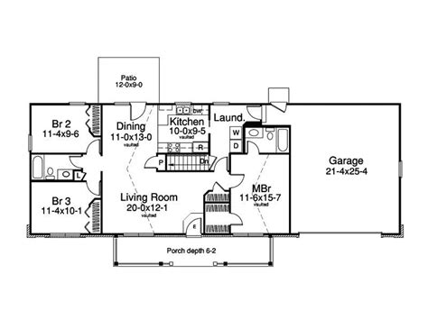 basic ranch style house plans luxury delighful simple 1 drive under garage ranch house plans