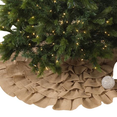 10 best burlap christmas tree skirts for 2017 rustic and