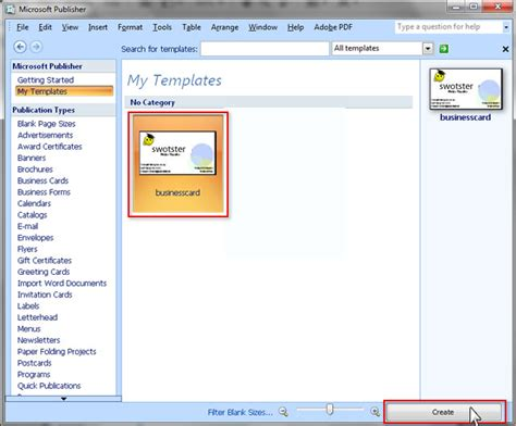 Swotster Publisher 2007 Templates Microsoft Office Publisher 2007 Templates