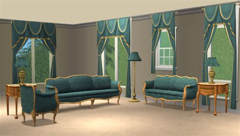 sims 2 living room sets mod the sims blue damask livingroom sets