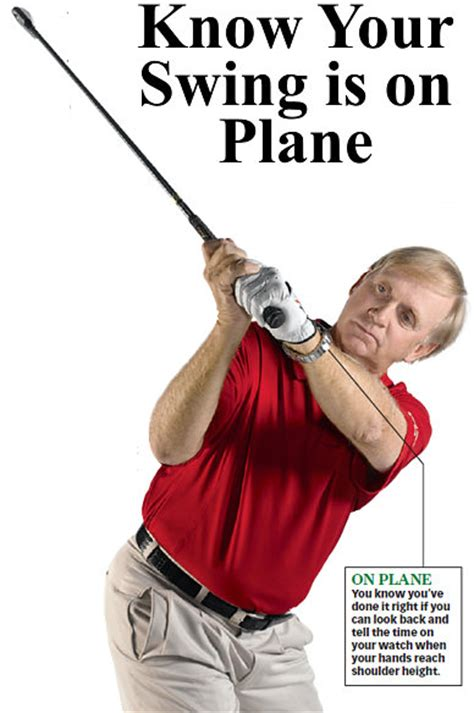 how to swing on plane peter krause golf tips how to tell if your golf siwng is