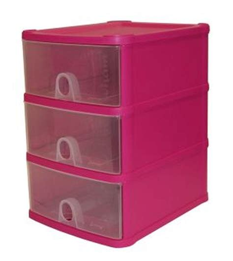 3 Drawer Plastic Storage Unit Handi 3 Drawer Plastic Storage Unit Fuschia Buy
