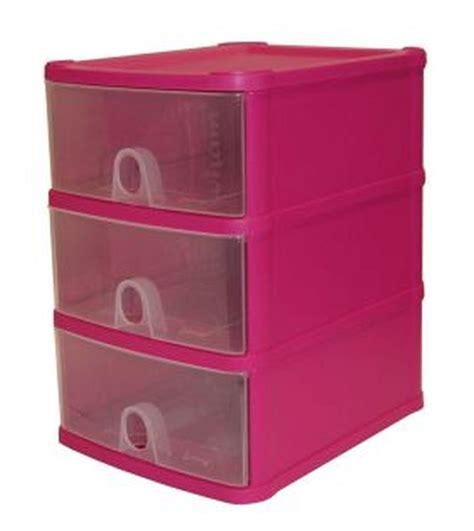 Drawer Plastic Storage Unit by Buy Handi 3 Drawer Plastic Storage Unit Fuschia