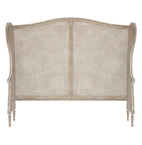 Country Headboard by Country White Wash Wing Back Caned Headboard Kathy Kuo Home