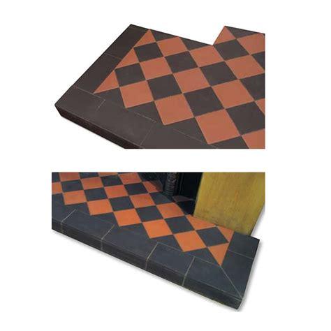Terracotta Fireplace Tiles by Black Terracotta Quarry Tile Hearth From Vfs