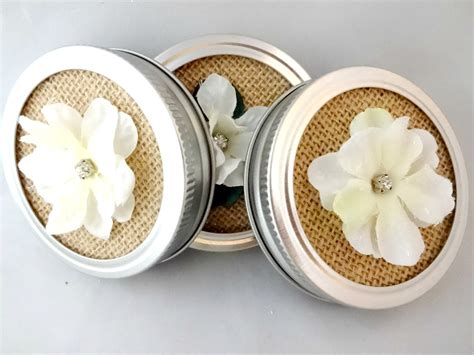 Decorative Canning Jar Lids by Decorative Jar Lids Burlap Jar Lid Insert Small