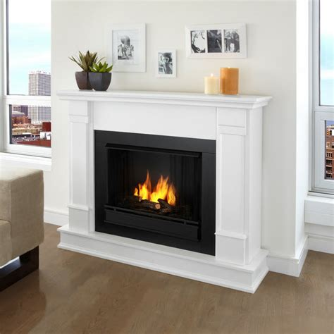 48 quot silverton white indoor gel fireplace