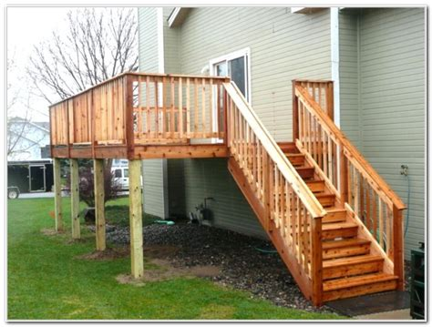 Deck L by Wood Deck Stair Railing Designs Decks Home Decorating