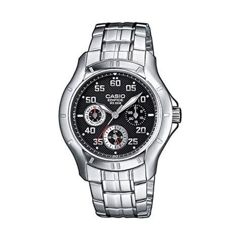 Jam Tangan Pria Edifice Casio Black Silver jual casio edifice ef 317d 1avdf hitam silver jam tangan