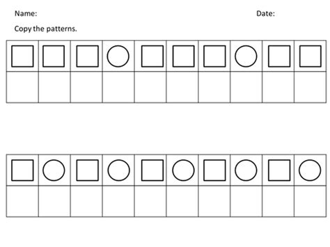 patterns with shapes and pictures worksheets pattern copy 2d shapes by kakacik teaching resources