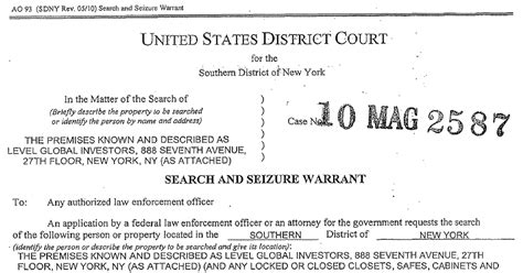 Warrant Search Tulsa County 2010 Warrant For Hedge Fund The New York Times