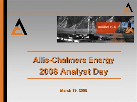 pattern energy analyst day allis chalmers energy2008 analyst daymarch 19 2008