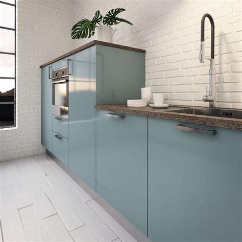 cuisine pal駮 cuisine couleur pastel bleu clair ou vert clair