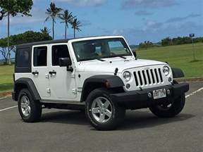 2016 jeep wrangler unlimited sport white side photos