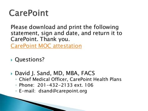 Md Mba Facs Suffix by For Carepoint Health Plans Staff