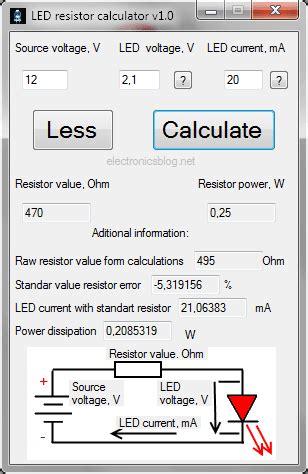 resistor calculator  leds serial  parallel