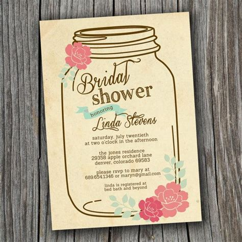 printable bridal shower paper bridal shower invitation printable custom diy wedding
