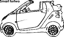 smart car coloring page smart fortwo dimensions