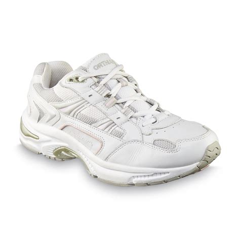 vionic s walker white leather athletic comfort shoe wide width