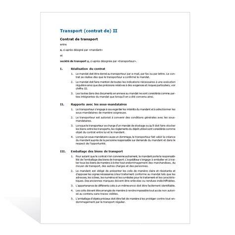 mod 232 le de contrat de transport