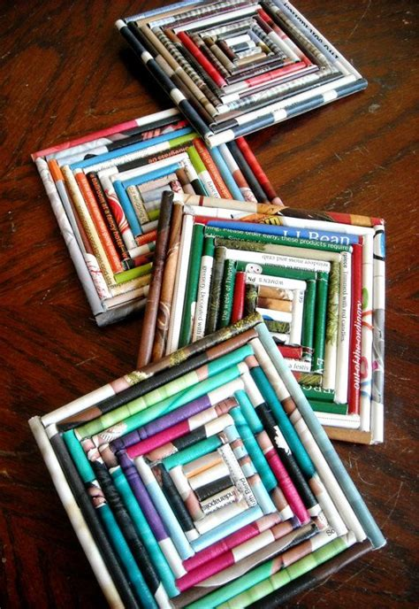 Magazine Paper Crafts - 140 best images about repurposing on vintage